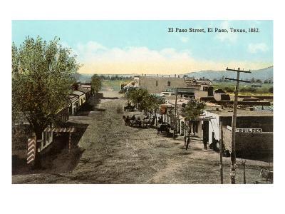 Early View, El Paso Street, El Paso, Texas--Art Print