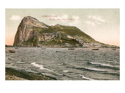 Early View of Rock of Gibraltar--Art Print