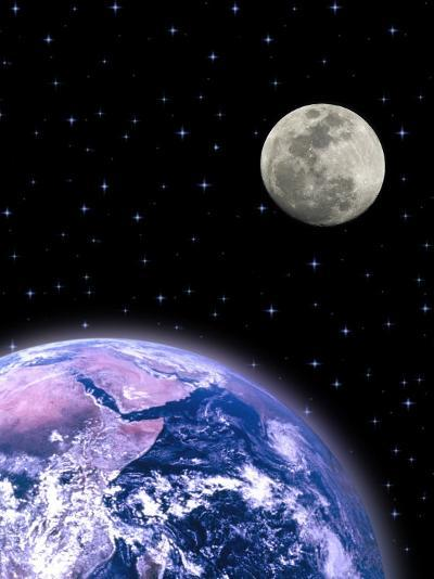 Earth and the Moon-David Davis-Photographic Print