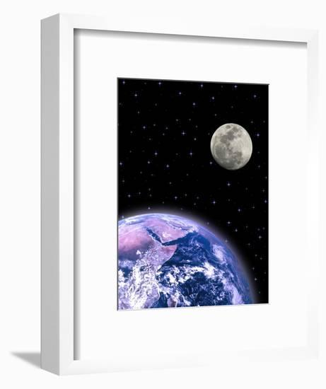 Earth and the Moon-David Davis-Framed Photographic Print