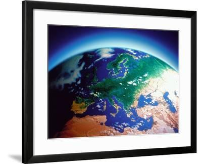 Earth atmosphere, ozone layer, computer graphic-G^ Baden-Framed Photographic Print