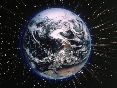 Earth Bombarded by Stars-Chris Rogers-Photographic Print