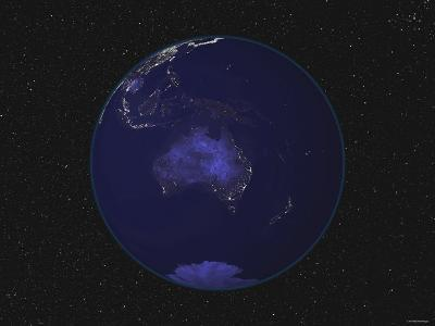 Earth Centered on Australia and Oceania-Stocktrek Images-Photographic Print