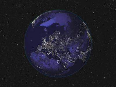 Earth Centered on Europe-Stocktrek Images-Photographic Print