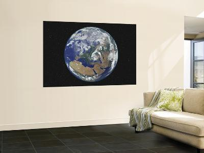 Earth Centered on Europe--Wall Mural