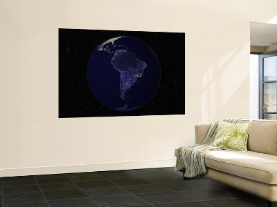 Earth Centered on South America--Wall Mural