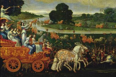 Earth, Detail of the Left Carriage with Nine Muses, C.1640-41-Claude Deruet-Giclee Print