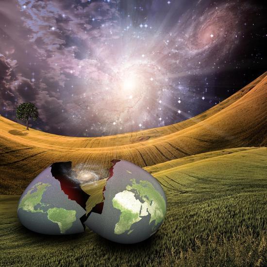 Earth Egg Is Hatched-rolffimages-Art Print