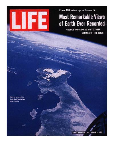 Earth from Gemini V Spaceship, September 24, 1965--Photographic Print