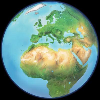 Earth Globe, Artwork-Gary Gastrolab-Photographic Print