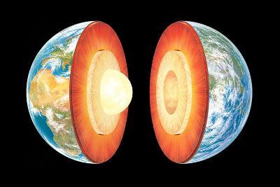 Earth Layers, Artwork-Gary Gastrolab-Photographic Print