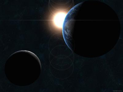 Earth, Moon and the Sun-Stocktrek Images-Photographic Print