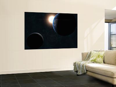 Earth, Moon and the Sun--Giant Art Print