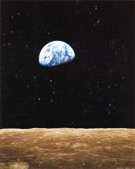 Earth Rise from Moon--Art Print