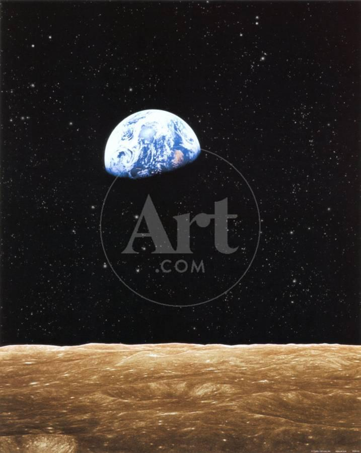 Earth Rise from Moon Art Print by | Art com