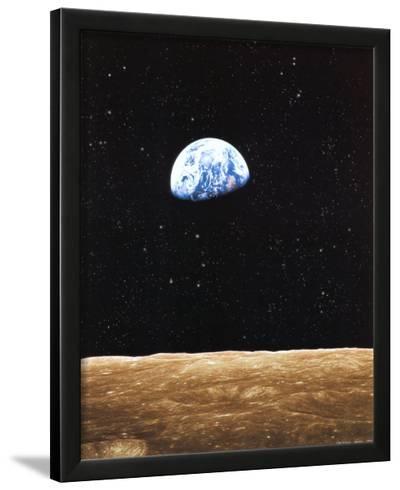 Earth Rise from Moon--Lamina Framed Art Print