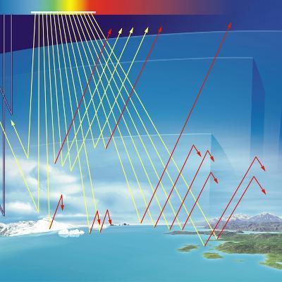 Earth's Atmosphere And Solar Radiation-Jose Antonio-Photographic Print