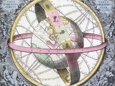 Earth's Celestial Circles, 1708 Artwork-Royal Astronomical Society-Photographic Print