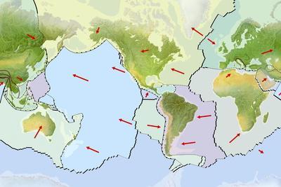 Earth's Tectonic Plates-Gary Hincks-Photographic Print