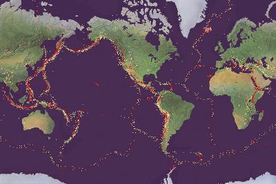 Earth's Volcanoes And Earthquakes-Gary Hincks-Photographic Print
