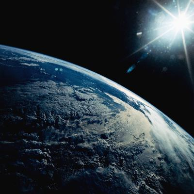 Earth Seen from Space Shuttle Discovery-Bettmann-Photographic Print