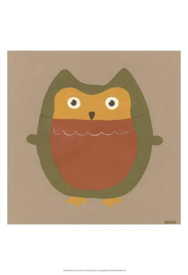 Earth-Tone Owls II-Erica J^ Vess-Art Print