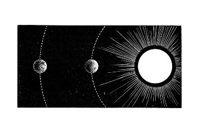 Earth-Venus Conjunction, 19th Century-Science Photo Library-Giclee Print