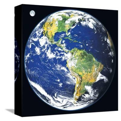 Earth View from Space--Stretched Canvas Print