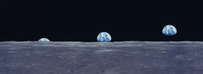 Earth Viewed from the Moon--Photographic Print