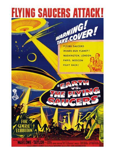 Earth vs. the Flying Saucers, Joan Taylor, Hugh Marlowe, 1956--Photo