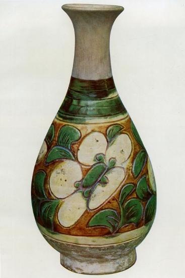 Earthenware Vase, Chinese, Tang Dynasty, 618-907--Giclee Print