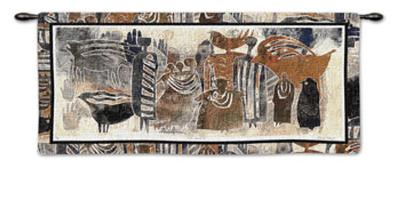 Earthmarks II-David Manje-Wall Tapestry