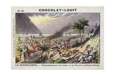 Earthquake at Pointe-A-Pitre, Guadeloupe, 1843--Giclee Print