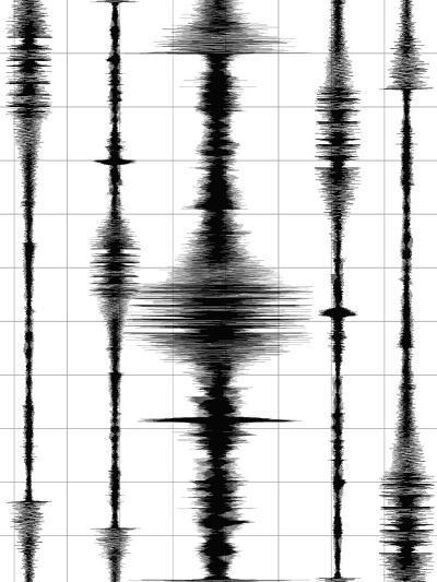 Earthquake Waves Graph-oriontrail2-Art Print