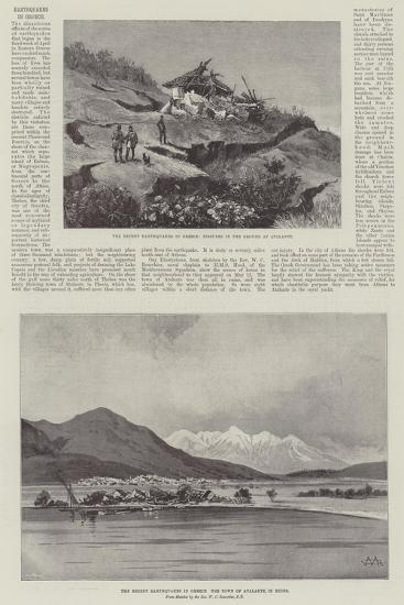 Earthquakes in Greece-Charles Auguste Loye-Giclee Print