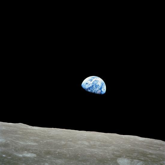 Earthrise Over Moon, Apollo 8--Premium Photographic Print