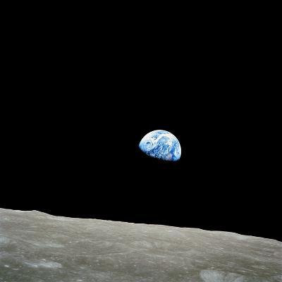 Earthrise Over Moon, Apollo 8--Photographic Print