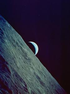 Earthrise over the Moon Taken by the Apollo 17 Crew