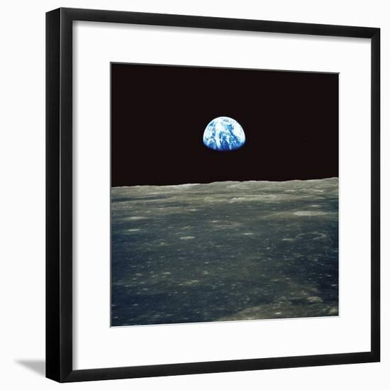 Earthrise Photographed From Apollo 11 Spacecraft--Framed Premium Photographic Print
