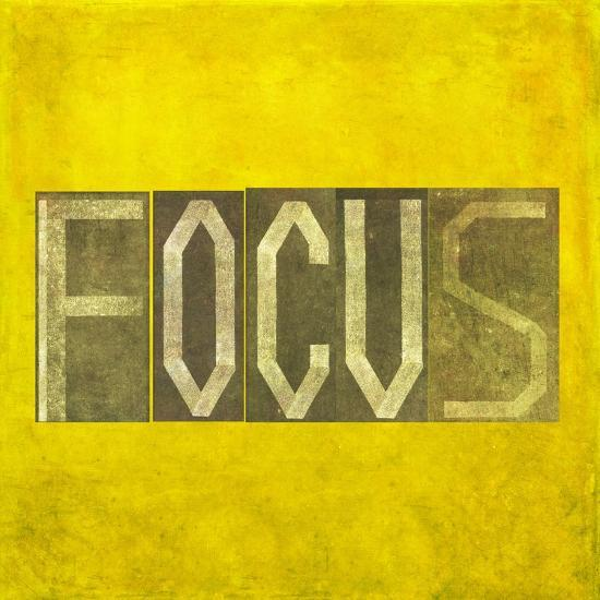 """Earthy Background Image And Design Element Depicting The Word """"Focus""""-nagib-Premium Giclee Print"""