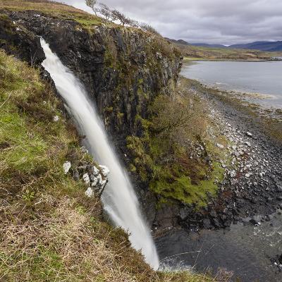 Eas Fors Waterfall, Near Ulva Ferry, Isle of Mull-Gary Cook-Photographic Print