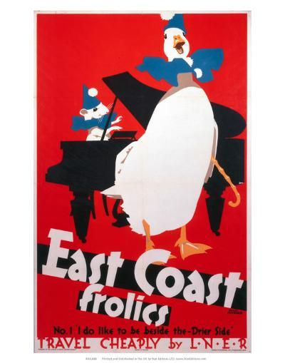 East Coast Frolics, LNER, c.1933-Frank Newbould-Art Print