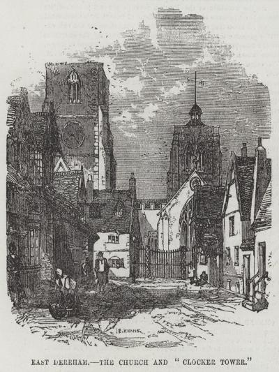East Dereham, the Church and Clocker Tower--Giclee Print