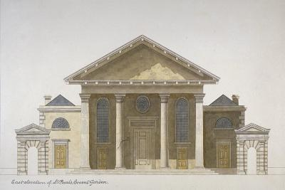 East Elevation of the Church of St Paul, Covent Garden, London, C1830--Giclee Print