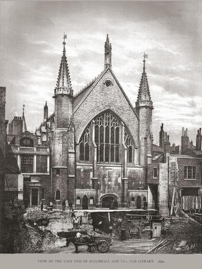 East End of Guild Hall and Library, 1870, (1886)-Unknown-Giclee Print