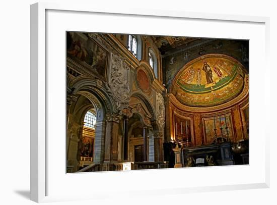 East End of the Nave and Apse with Christ, Saints and Pope Gregory Iv--Framed Giclee Print