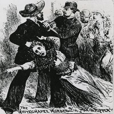 East End Villains: Whitechapel Vigilantes Seize a Suspect Ripper--Giclee Print