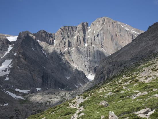 East Face of Longs Peak, a Glacial Headwall in the Rocky Mountains, Colorado, USA-Marli Miller-Photographic Print