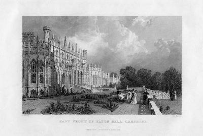 East Front of Eaton Hall, Cheshire, 1845-Frederick James Havell-Giclee Print