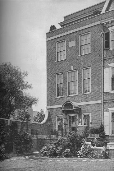 East front with terrace and garden gate, house of Mrs WK Vanderbilt, New York City, 1924-Unknown-Photographic Print